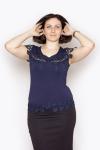 Блузка, цвет - т.синий