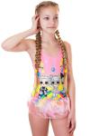 Купальник детский, цвет - коралл