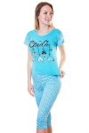 Пижама, цвет - голубой
