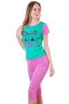 Пижама, цвет - зеленый