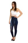 Легинсы, цвет - джинсовый