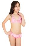 Купальник детский, цвет - персиковый