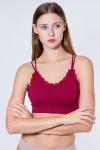 Топ женский, цвет - бордовый
