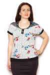Блузка, цвет - горох