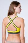 Топ спортивный, цвет - желтый_0