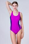 Купальник спортивный, цвет - пурпурный_0