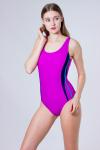 Купальник спортивный, цвет - пурпурный