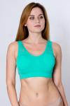 Топ спортивный, цвет - зеленый