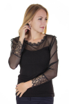 Блузка, цвет - черный