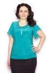 Блузка, цвет - изумрудный