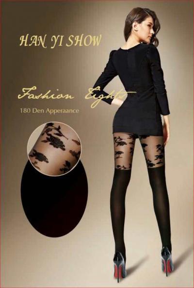 Колготки фантазийные, цвет - черный