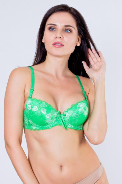 Бюстгальтер, цвет - зеленый
