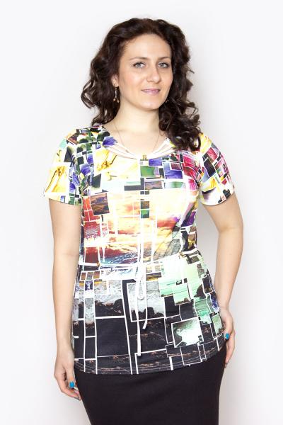 Блузка, цвет - многоцветный