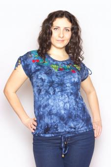 Блузка, цвет - синий