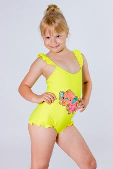 Купальник детский, цвет - желтый