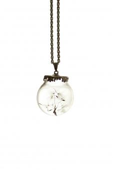Кулон с гербарием, цвет - расцветки в ас.