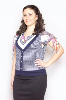 Блузка, цвет - полоска