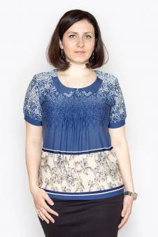Блузка, цвет - голубой